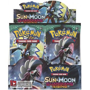 Pokemon: Sun & Moon Guardians Rising Booster Display