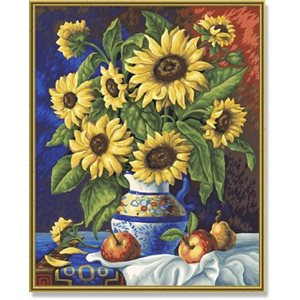 Paint by Numbers: Still Life with Sunflowers