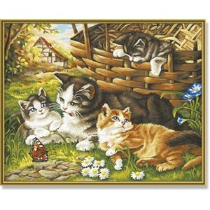 Paint by Numbers: Cat Family