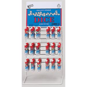Tiny Dice: Deluxe Opaque: 30pc - Display Rack of 72 Tubes