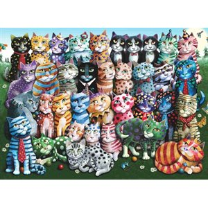 Puzzle: 1000 Cat Family Reunion