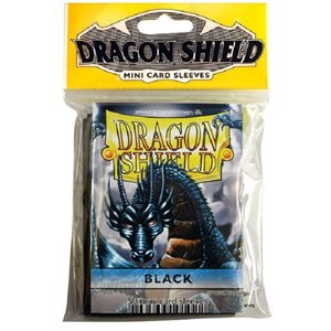 Sleeves: Mini Dragon Shield (10) Black