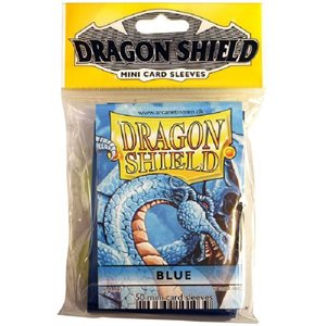 Sleeves: Mini Dragon Shield (10) Blue