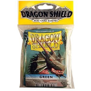 Sleeves: Mini Dragon Shield (10) Green