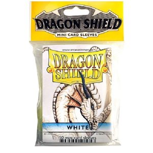 Sleeves: Mini Dragon Shield (10) White