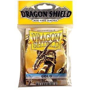 Sleeves: Mini Dragon Shield (10) Gold
