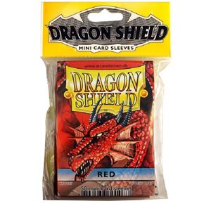 Sleeves: Mini Dragon Shield (10) Red