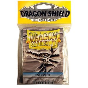Sleeves: Mini Dragon Shield (10) Silver