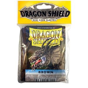 Sleeves: Mini Dragon Shield (10) Brown