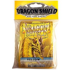 Sleeves: Mini Dragon Shield (10) Yellow