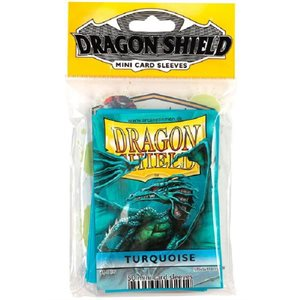 Sleeves: Mini Dragon Shield (10) Turquoi
