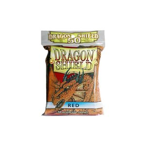 Sleeves: 50Ct Dragon Shield Red