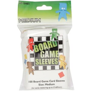 Sleeves: Board Game Clear Medium