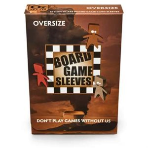 Board Game Sleeves: Oversize (Non-Glare) 82x124mm