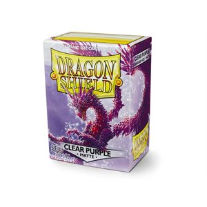 Sleeves: Dragon Shield Matte Clear Purple ^ Aug
