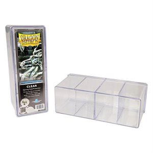 Dragon Shield Storage Box: 4 Compartments Clear