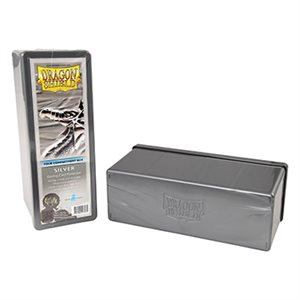 Dragon Shield Storage Box: 4 Compartments Silver