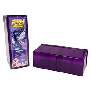 Dragon Shield Storage Box: 4 Compartments Purple