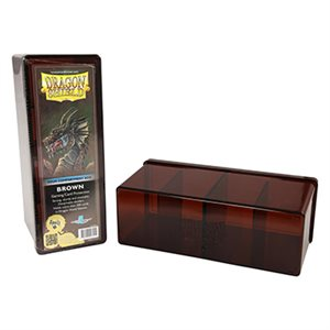 Dragon Shield Storage Box: 4 Compartments Brown