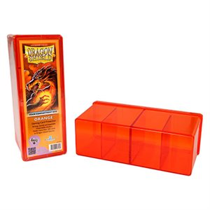 Dragon Shield Storage Box: 4 Compartments Orange