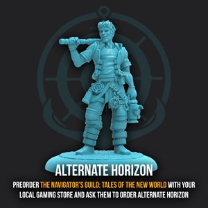 Guild Ball: Navigator's Guild - Promo Figure - Limited Edition Horizon ^ Sep 21
