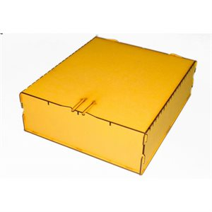 Trading Card Box - Large Yellow
