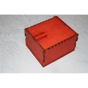 Trading Card Box - Small Red
