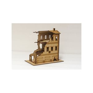European Houses: Destroyed 3 Story (15mm)