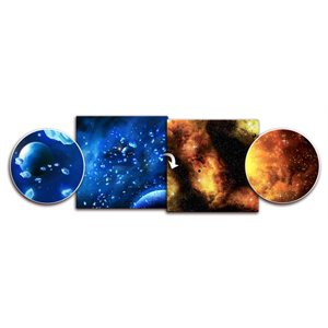 Playmat: Planet / Fiery Nebula 3' x 3' (Doubled Sided)