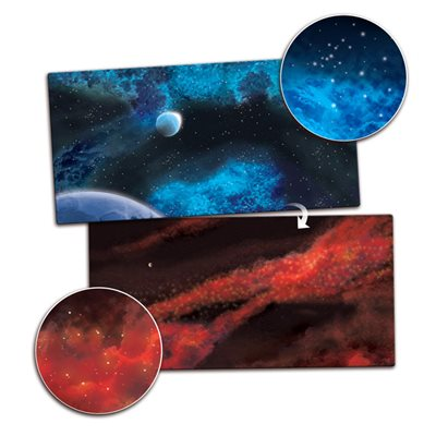 Playmat: Crimson Gas Giant / Frozen Star System 6' x 3' (Double Sided)