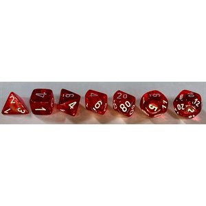 Translucent: 7pc Red / White