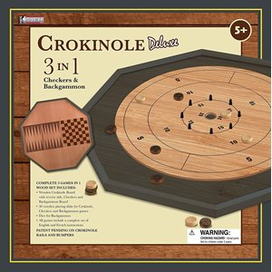 3 in 1 Crokinole Board