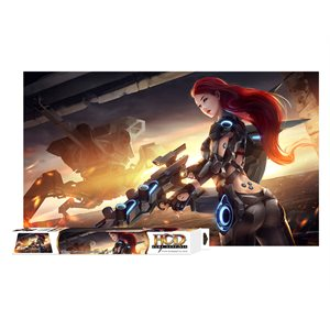 Cyborg Uprising table mat 6ft