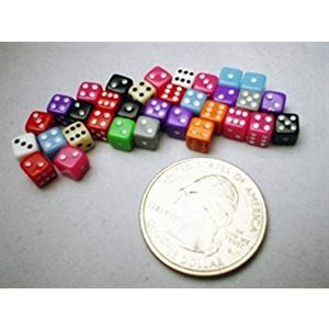 Tiny Dice: Deluxe Opaque: 30pc Assorted Colours