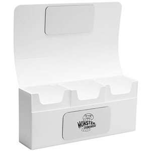 Deck Box: Monster Triple Deck Box White