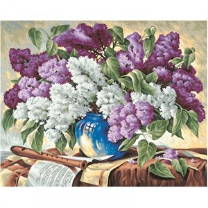 Paint by Numbers: Bunch of Lilacs (Multi)
