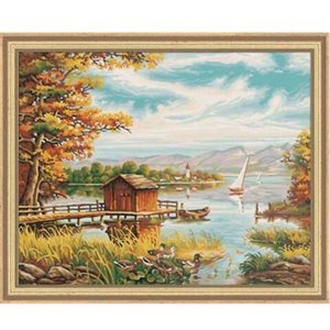 Paint by Numbers: Ashore the Lake (Multi)