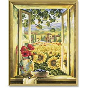 Paint by Numbers: Sunflower Fields (Multi)
