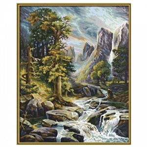 Paint by Numbers: High Mountain Scenery (Multi)