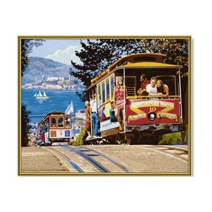 Paint by Numbers: San Francisco Cable Cars (Multi)