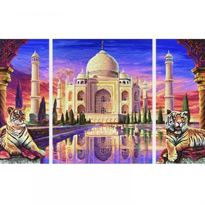 Paint by Numbers: Taj Mahal - Memorial of Eternal Love
