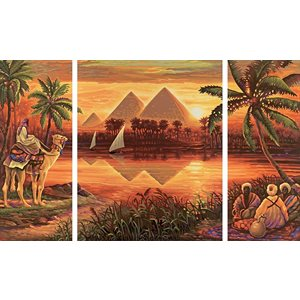 Paint by Numbers: Pyramids on the Nile
