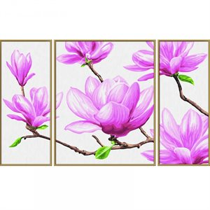 Paint by Numbers: Magnolia (Tryptych)