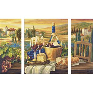 Paint by Numbers: Dolce Vita (Tryptych)