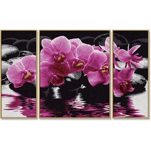 Paint by Numbers: Tryptych Orchids