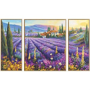 Paint by Numbers: Lavender Fields (Tryptych)