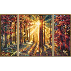 Paint by Numbers: Autumn Forest (Tryptych)