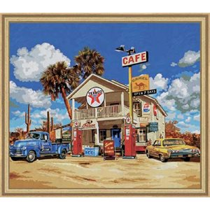 Paint by Numbers: Old American Gas Station