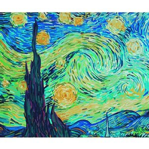 Paint by Numbers: Starry Night