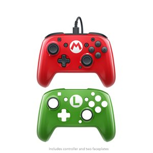 Nintendo Switch Faceoff Wired Pro Controller - Mario